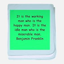 ben franklin quotes baby blanket