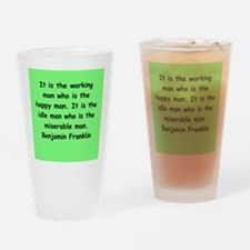 ben franklin quotes Drinking Glass