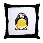 Flapper penguin Throw Pillow