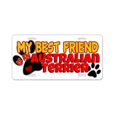 Australian Terrier Aluminum License Plate