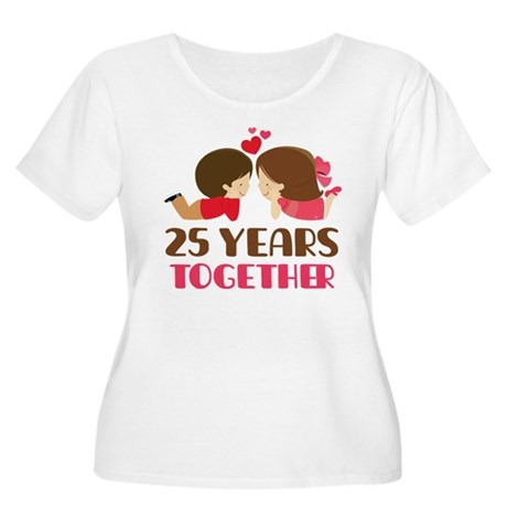 25 Years Together Anniversary Women's Plus Size Sc