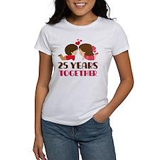 25 Years Together Anniversary Tee
