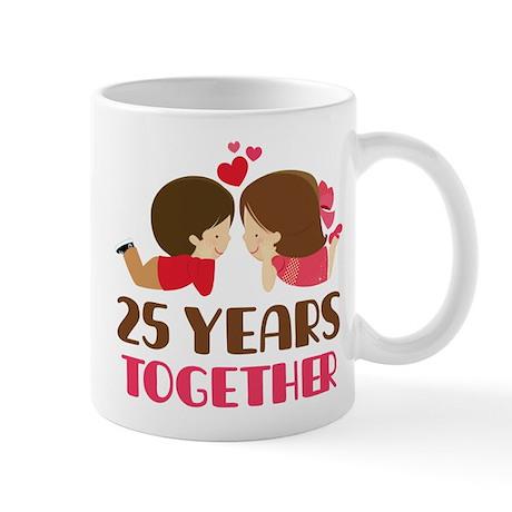 25 Years Together Anniversary Mug