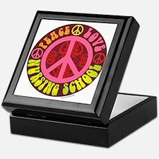 Peace, Love, Nursing School Keepsake Box