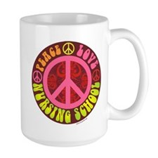 Peace, Love, Nursing School Mug