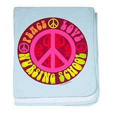 Peace, Love, Nursing School baby blanket