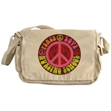 Peace, Love, Nursing School Messenger Bag
