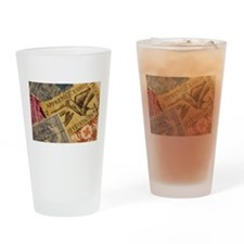 Cute Stamp collecting Drinking Glass