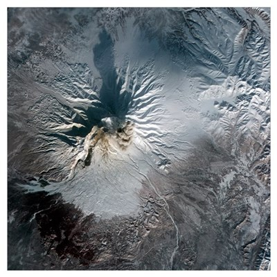 Shiveluch Volcano in Russia Poster