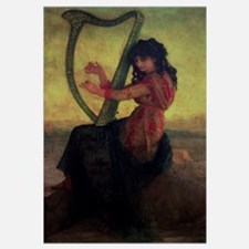 Muse Playing the Harp (oil on canvas)