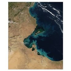 Resuspended sediment off the coast of Tunisia Poster