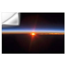 Layers of Earths atmosphere brightly colored as th Wall Decal