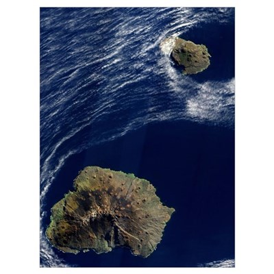Satellite view of the Prince Edward Islands Poster