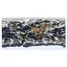 Detailed satellite view of Earth Poster