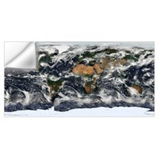 Detailed satellite view of Earth Wall Decal