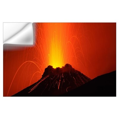 Stromboli eruption Aeolian Islands north of Sicily Wall Decal