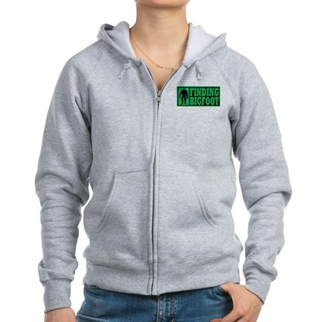 Finding Bigfoot logo Women's Zip Hoodie