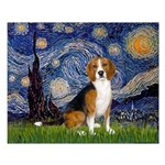 Starry Night & Beagle Small Poster