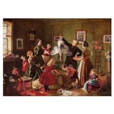 The Christmas Hamper (oil on canvas) Poster