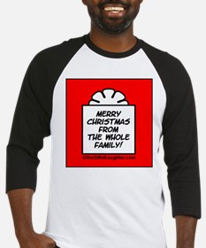 b christmas from the whole family Baseball Jersey
