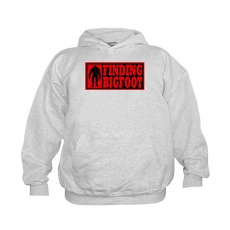 Finding Bigfoot logo Kids Hoodie