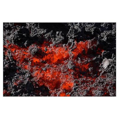 Pacaya lava flow Guatemala Poster