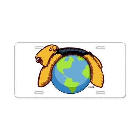Airedale World Aluminum License Plate