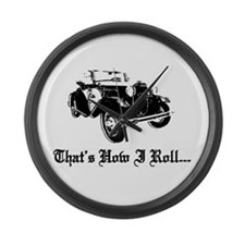 Funny Ford model t Large Wall Clock