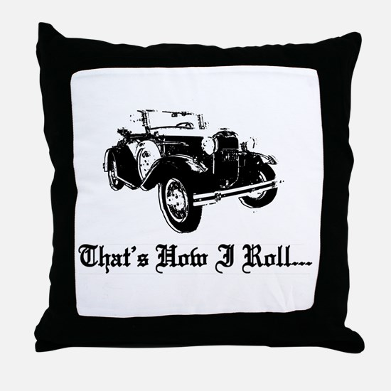 Cute Old car Throw Pillow