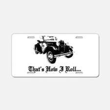 Cute Convertible Aluminum License Plate