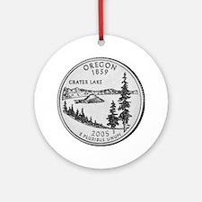 2005 Oregon State Quarter Ornament (Round)