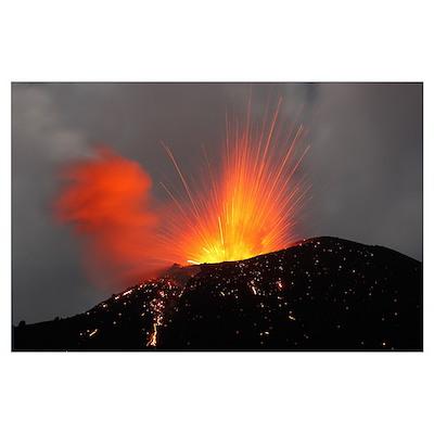 Krakatau eruption Sunda Strait Indonesia Poster