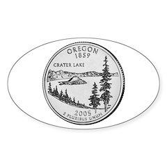 2005 Oregon State Quarter Oval Decal