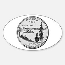 2005 Oregon State Quarter Oval Decal