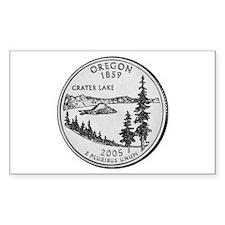 2005 Oregon State Quarter Rectangle Decal