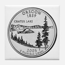 2005 Oregon State Quarter Tile Coaster