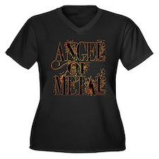 Angel Of Metal Women's Plus Size V-Neck Dark T-Shi
