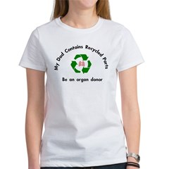 Women's T-Shirt My Dad contains - lung