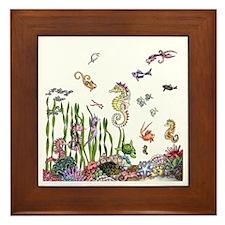 Ocean Life Framed Tile