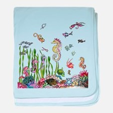 Ocean Life baby blanket