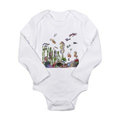 Ocean Life Long Sleeve Infant Bodysuit