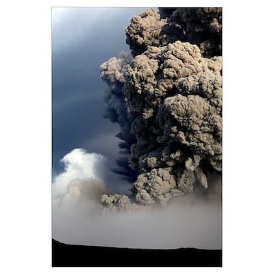 Eyjafjallajkull eruption Iceland Poster