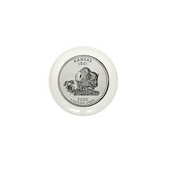 2005 Kansas State Quarter Mini Button (10 pack)