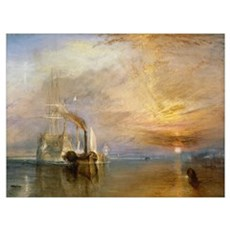 The Fighting Temeraire Tugged to her Last Berth to Framed Print