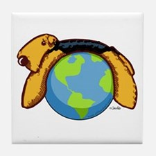 Airedale World Tile Coaster