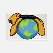 Airedale World Rectangle Magnet