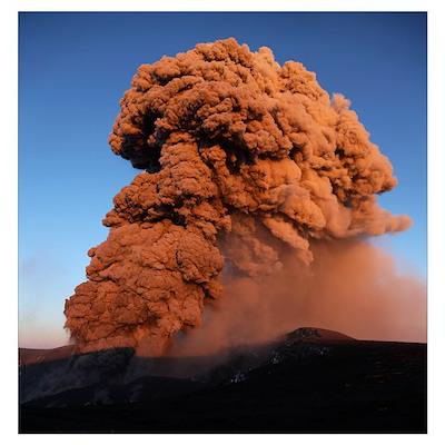 Eyjafjallajkull eruption Summit crater Iceland Poster
