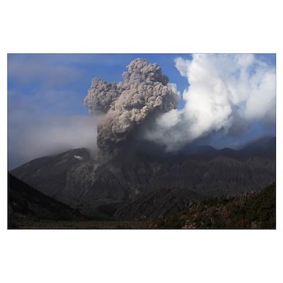 Sakurajima eruption Kagoshima Japan Poster