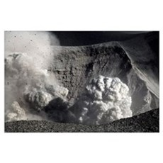 Yasur eruption Tanna Island Vanuatu Poster