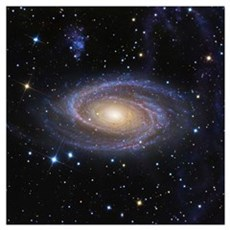Messier 81 or Bodes Galaxy is a spiral galaxy loca Poster